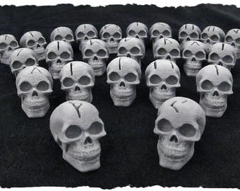3D Printed Rune Skulls  24 piece set