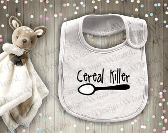 Cereal Killer Infant Baby Bib