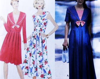 90s Miss Sailor Dresses Simplicity 9618 Sewing Pattern  14-16-18