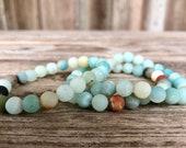 Amazonite natural stone gemstone earthy stretch grounding beachy blue calming