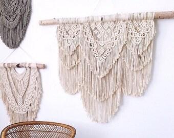Extra Large Boho Macrame Tapestry