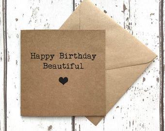 Friend birthday, best friend card, friend card, best friend birthday, card for her, wide card, custom quote card, girlfriend birthday