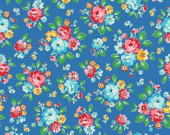 Riley Blake Arbor Main Blue Cotton Quilting Fabric