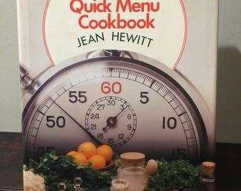 Family Circle Quick Menu Cookbook by Jean Hewitt 1978