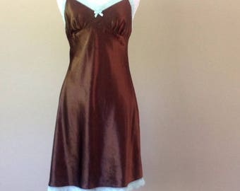 S / Gilligan & O'Malley Satin Slip Dress Lingerie /Small