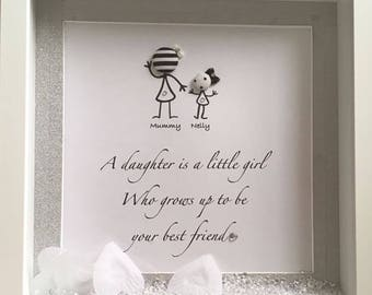 mother daughter frame personalised keepsake - Mother Daughter Picture Frame