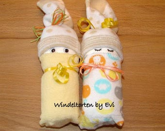 Diaper babies / Windelbabies neutral / unisex, baby gift birth