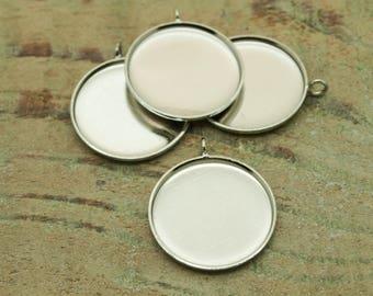 Silver 20 X 20 mm cabochon