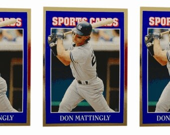 5 - 1992 Sports Cards #56 Don Mattingly Baseball Card Lot New York Yankees