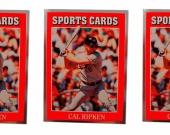 5 - 1991 Sports Cards #20 Cal Ripken Jr. Baseball Card Lot Baltimore Orioles