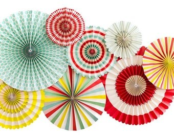 Carnival Paper Fans, Carnival Theme Party,Carnival Party Decor,Circus Party,Paper Fans,Carnival Decorations, Farmhouse Party, Carnival Party