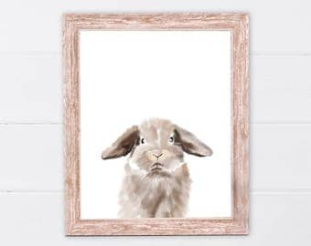 Rabbit print | Woodland animals | PRINTABLE Art | Nursery decor | Animal art | Baby animals | Nursery wall art | Rabbit Wall Art