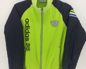 Vintage 90's Adidas 3 Stripes Sport Classic Design Skate Sweat Shirt Sweater Varsity Jacket Size M #A868