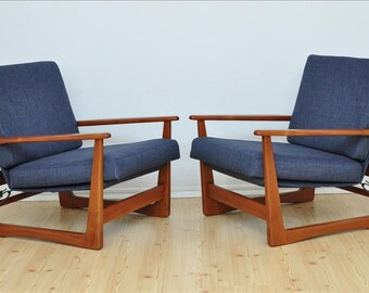 1 of 2 Danish TEAK  Vintage Chairs Design Mid Century Loft Modern