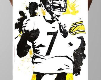 Steelers Wall Art ben roethlisberger | etsy