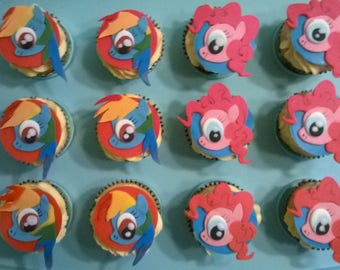My Little Pony Fondant Cupcake Toppers