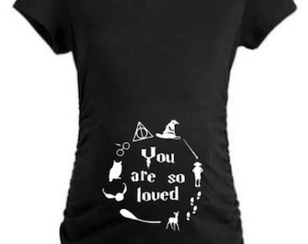 Harry potter matetnity 'you are so loved' T-shirt.