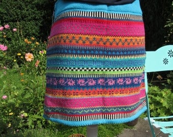 Colorful knit skirt Syltje size M