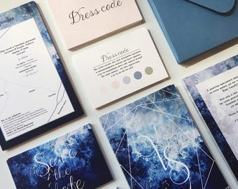 Vika&Stas wedding invitation set