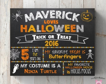 Custom Halloween Sign, Chalkboard Halloween Sign, Printable Halloween Photo Prop Sign, Halloween Chalkboard Sign for Kids, Halloween Prop