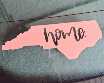Home NC Sticker Home NC Decal NC Home Sticker Nc Home Decal North Carolina Home Car Decal