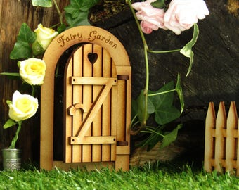 Opening Fairy Garden Gate - Three-dimensional Fully Opening Wooden Fairy Door Craft Kit