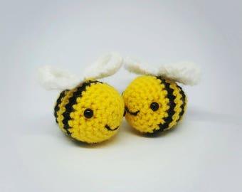 Handmade crochet bumblebee