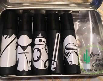 Star Wars Roller Bottles   Make & Take   Black Rollers   Labels   Party Favors   Kits  