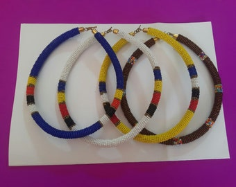 maasai necklace / beaded necklace / colourful necklace / african necklace