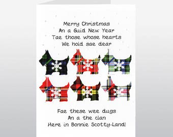 Christmas Scotties Card WWXM71