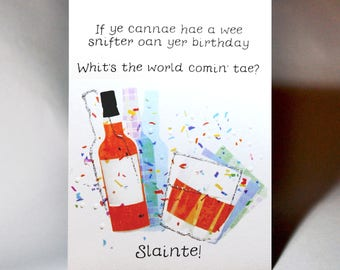 Birthday Slainte Card WWBI137