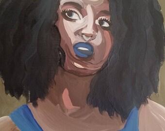 African American Woman - Original Acrylic Painting