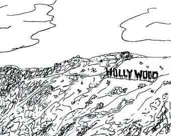 Hollywood Sketch Print