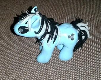 Small blue pony