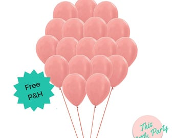 Rose Gold Balloons (18pk) - Standard size 30cm Natural Latex Birthday Party Decoration
