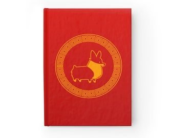 NEW! Year of the Corgi Sketchbook | Semi-gloss Hardcover 8x5 inches Blank or Ruled Paper | 128 Pages 90gsm | 2018 Year of the Dog