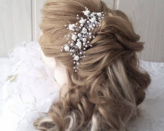 Flower hair comb,Diadema,Crown,Bridal hair vine,Crystals Bridal Wedding,Hairpiece Bridal Hair Vine,Wedding hair-vine,pearl hair vine 412