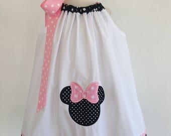 Minnie Mouse Disney Dress/ Pink Minnie Mouse Dress / Disney / Infant / Baby / Toddler / Custom Clothing / Pillowcase Dress