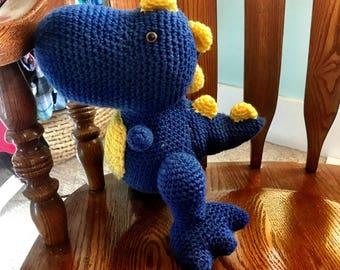 T-Rex Plush, Crochet Dinosaur Plushy, Baby T-Rex