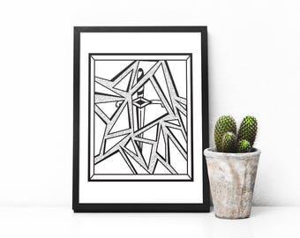 Broken Mirror Dagger digital print
