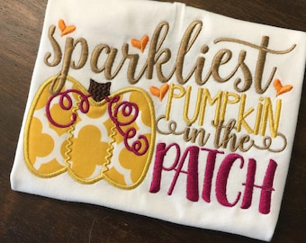 Pumpkin Patch Shirt // Thanksgiving Shirt or Onesie Bodysuit // Pumpkin Monogrammed Shirt // Fall Thanksgiving Shirt for Baby