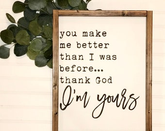 Thank God I'm Yours