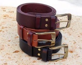 Men's buffalo leather belt, Leather Belt, Jeans belt, Handmade leather belt for men