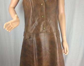 Leather Vest Dress 1960s