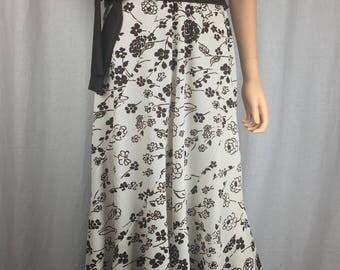 Gorgeous 1970s Faux Wrap Maxi Dress