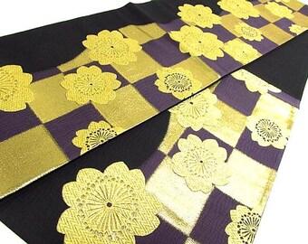 Japanese Silk Obi of  Flower Sakura pattern