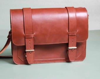 "Men's Messenger,  Work Bag,  Slim Leather Briefcase,  15"" Laptop Briefcase, Attache, Tote, Full Grain Laptop's Bag, Men's Leather Saddle Bag"