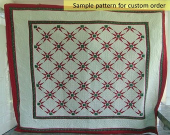 Darting Minnows quilts, Christmas quilts, Homemade quilts, Amish quilts, Patchwork, Quilted Bedspread, Christmas Gifts, Traditional quilts