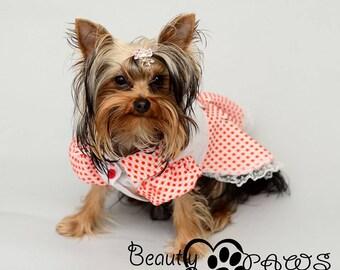 Dog Dress, Dog Clothing, Dog Wedding Dress, Pet Clothing, Pet Clothing