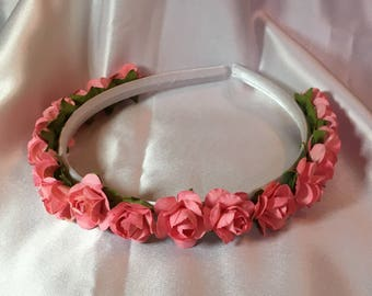 Peach Bridesmaid hair band, Bridesmaid hair accessories, Bridesmaid Hair piece, Bridesmaid Headband, Bridal, Wedding, flower girl, communion
